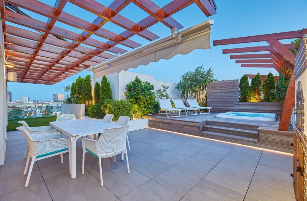 Amenajare gradina penthouse, terasa verde, gradina pe acoperis, spatii verzi acoperis