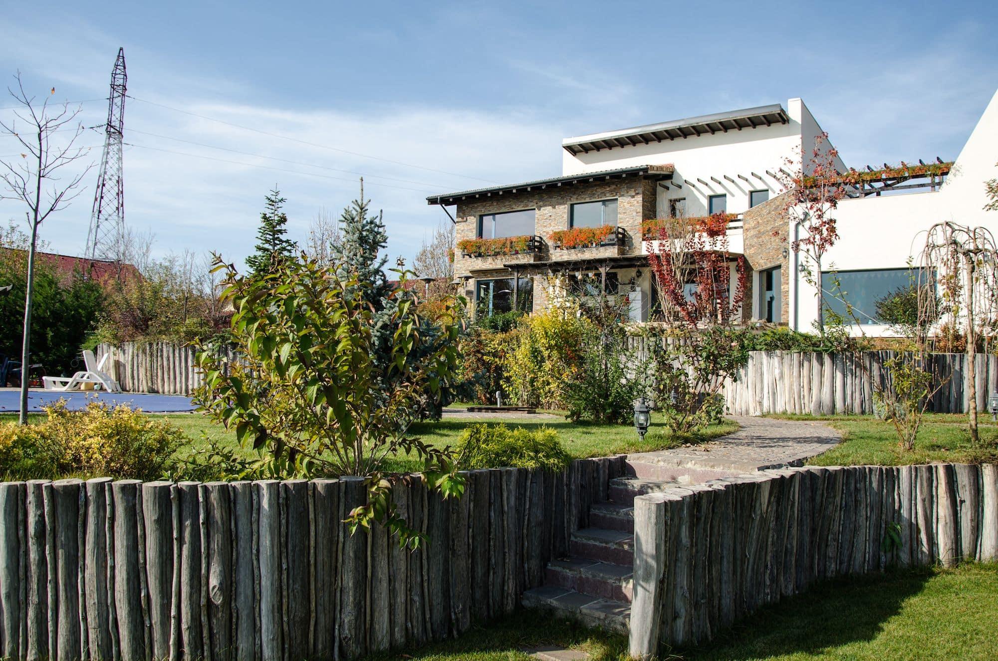 Poze gradina amenajata in Bucuresti