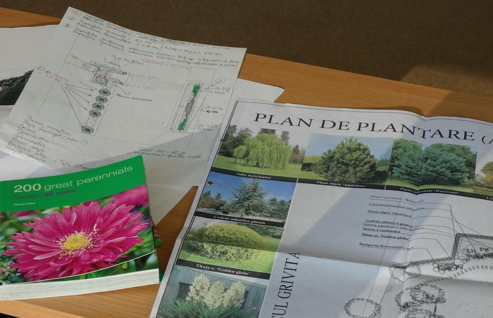 Planul de plantare, parte a proiectarii peisagistice